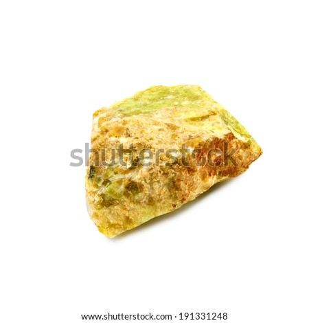 Isolated image of opal stone on a white background - stock photo