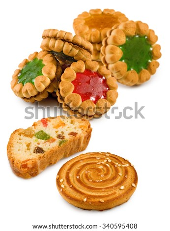 Isolated image of  tasty cookies - stock photo