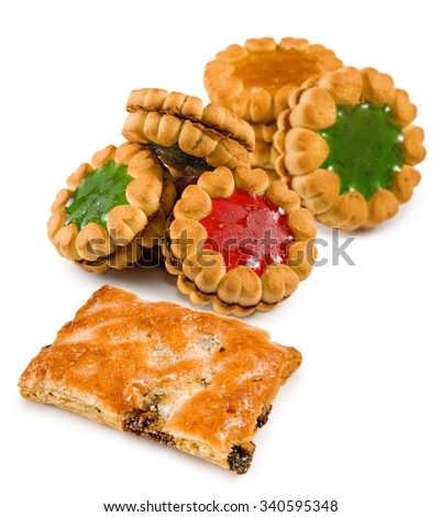 Isolated image of  tasty cookies closeup - stock photo