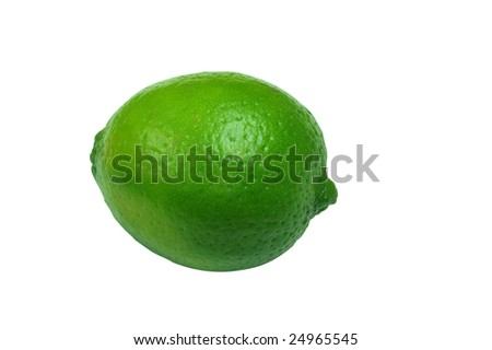 Isolated lime with white background