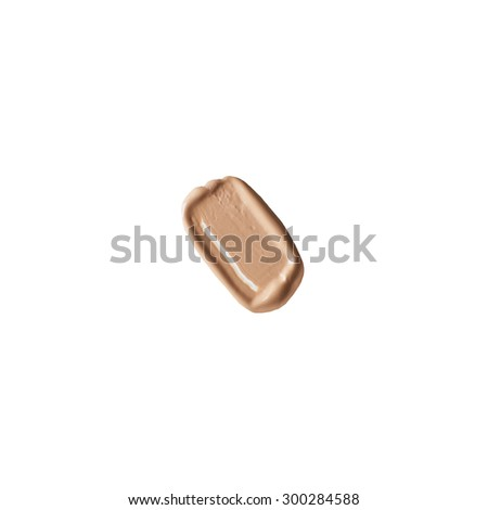 Isolated liquid foundation sample - stock photo