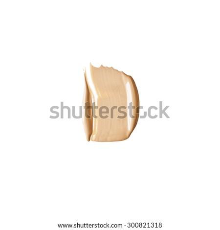 Isolated liquid foundation sample - stock photo