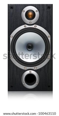 Isolated loudspeaker on white background - stock photo