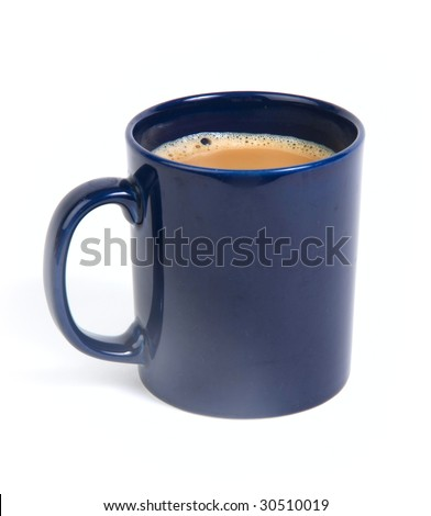 Isolated mag of tea on white - stock photo