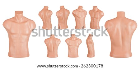 Isolated Mannequin or Dummy - stock photo