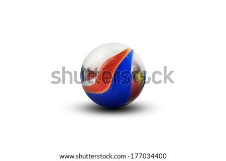 Isolated marble - stock photo