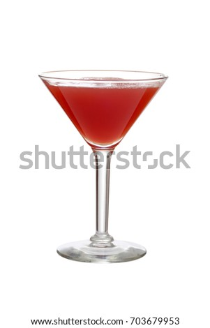 isolated martini glass of watermelon juice