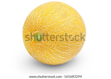 Isolated melon on white background - stock photo