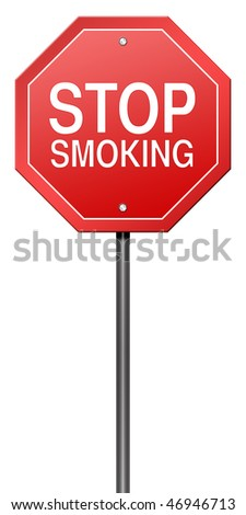 Isolated Metaphor Sign with Stop Smoking - stock photo