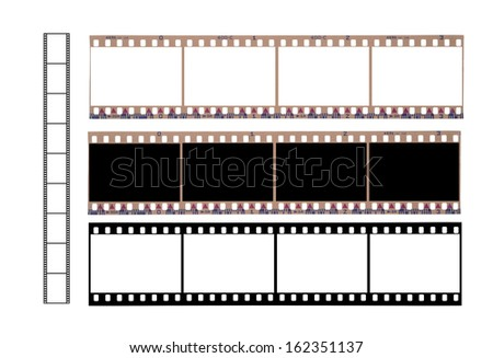Isolated 36 mm filmstrip  on a white background