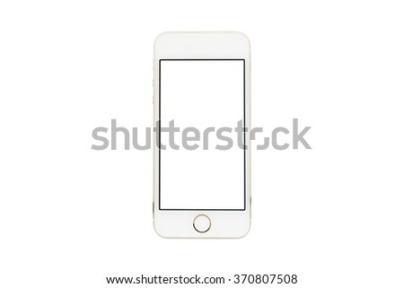 Isolated mobile phone on white background.With clipping path.