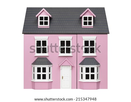 Isolated Model House - stock photo