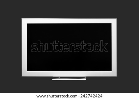 Isolated modern LCD, LED or plasma display - stock photo