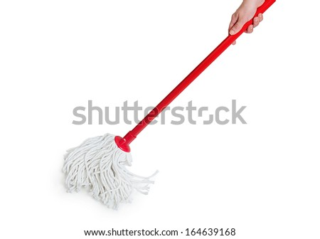 Isolated mop on white background