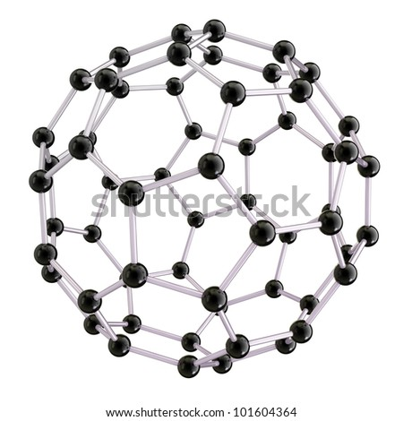 isolated nano sphere on the white background - stock photo
