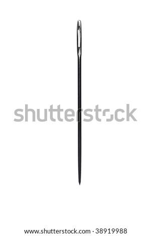 isolated needle - stock photo