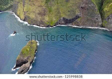Isolated northern coast of the Big Island, Hawaii - stock photo