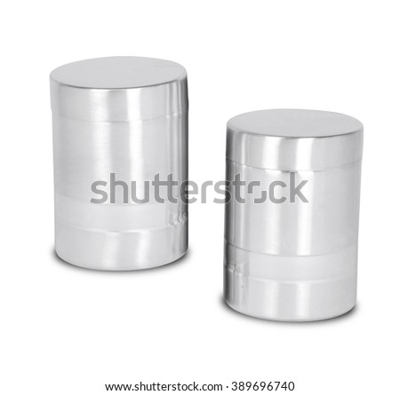 Isolated of Aluminum metal can on white background - stock photo