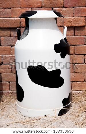 isolated of cow milk tank - stock photo