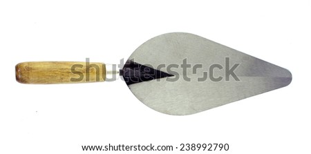 isolated of lute trowel tool for construction mason  - stock photo