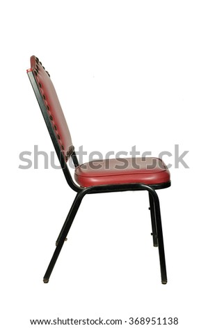 Isolated of Retro Leather Chair with Steel Structure