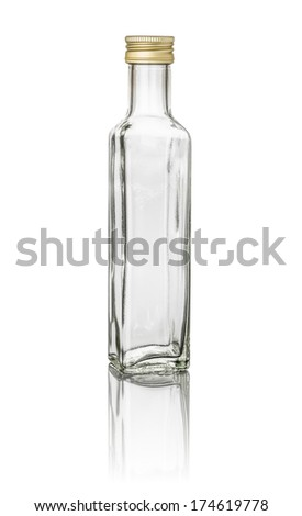 isolated oil bottle - stock photo
