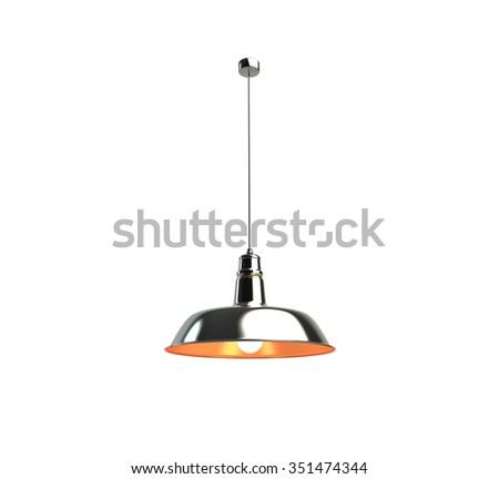 Isolated on white old-fashioned light - stock photo