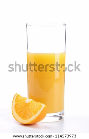 isolated orange juice