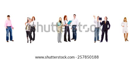 Isolated over White Business Idea  - stock photo
