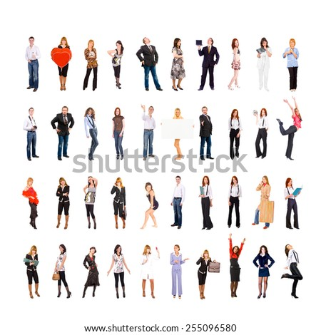 Isolated over White Workforce Concept  - stock photo