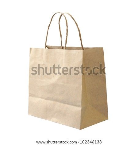 Isolated paper bag - stock photo