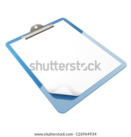 Isolated paper pad holder on white background - stock photo