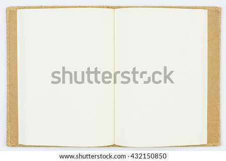 Isolated Paper with Light Brown Cover Book on White Background with Shadow/Creative Space/Empty Idea/Waiting for Someone/Start Work/Beginning