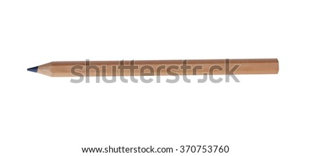 Isolated pencil with clipping path