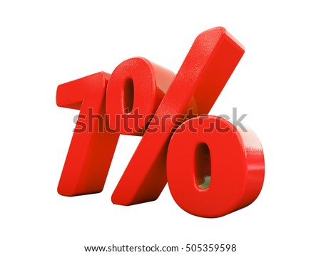 Isolated 7 Percent Discount 3d Sign on White Background, Special Offer 7% Discount Tag, Sale Up to 7 Percent Off, Sale Symbol, Special Offer Label, Sticker, Tag, Badge, Emblem, Web Icon