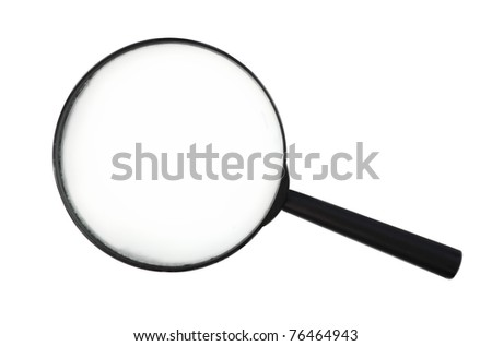 isolated photo black plastic loop - stock photo