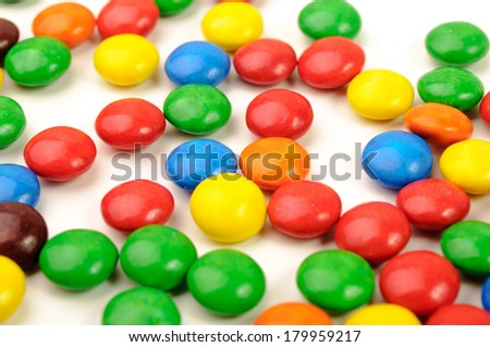 Isolated photo of colorful sweeties