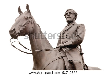 Isolated photo of Robert E. Lee, the commander of the Confederate forces at Gettysburg - stock photo