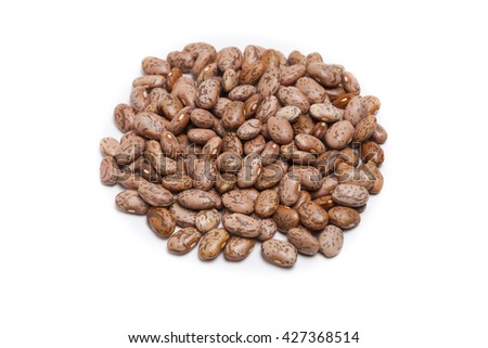 Isolated  pinto beans on white background  - stock photo