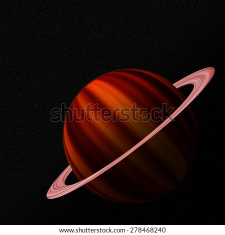 Isolated planet in space - stock photo