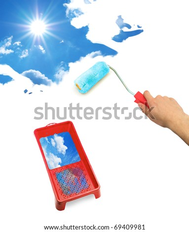Isolated platen and sky. Element of design. - stock photo
