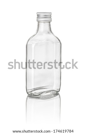 isolated pocket bottle