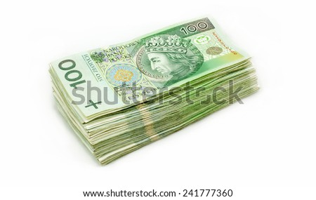 Isolated Polish Money - stock photo