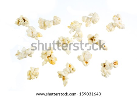 Isolated popcorn - stock photo