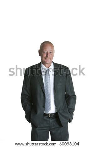 Isolated portrait of a senior executive businessman