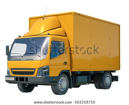 Isolated Postal Truck Illustrates the Express Fast Free Home Delivery of Cargo, Home Delivery Icon, Delivery Truck Icon, Transporting Service, Freight Transportation, Packages Shipment, Logistics