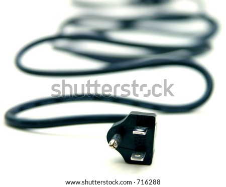 Isolated Power Cable - stock photo