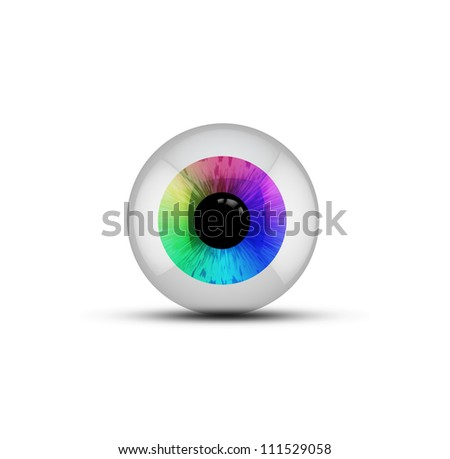isolated rainbow spectrum eyeball