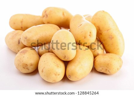 isolated raw potato - stock photo