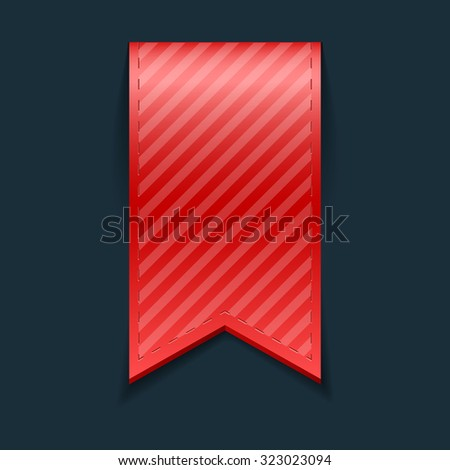 Isolated red bookmark, isolated, on black background - stock photo